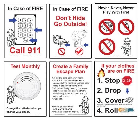 Kids Safety Calendar : Teach kids about fire safety children resources ffpd